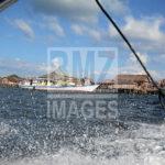 Sebuah kapal penumpang bersandara di dermaga Pulau Kabalutan, Kepulauan Togean, Tojo Unauna, Sulawesi Tengah. ANTARAFOTO/Basri Marzuki/18